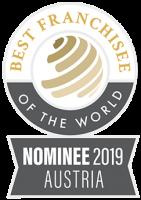 Logo Bester Franchisenehmer der Welt Nominierung